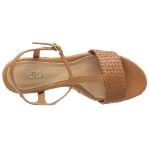 a6a547535b3 UGG NEW, Fitchi II, leather wedge sandals Boutique